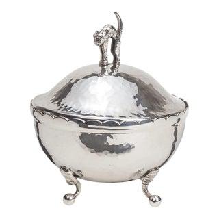 Decorative Box, Silver plate Cat lid Box For Sale