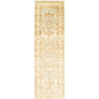 Pasargad N Y Turkish Oushak Design Hand-Knotted Rug - 3' X 10' For Sale