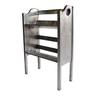 1940's Vintage Simmons Industrial Metal 2 Tier Book Holder For Sale