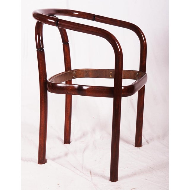 Beech Vintage beechwood chair by TON For Sale - Image 7 of 8