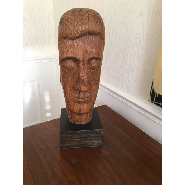 Wood Carved Statue - Image 5 of 6
