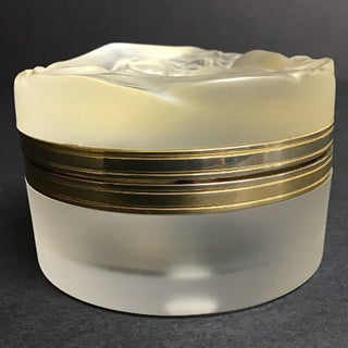 Lalique France Hinged Crystal Powder Jar With Nude on the Lid Preview