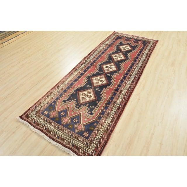 Persian Persian Afshar Runner - 3'5'' X 9'3'' For Sale - Image 3 of 13