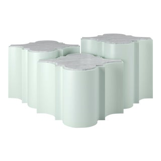 Sofia Nesting Tables, Set of 3 - Swept Away Blue For Sale