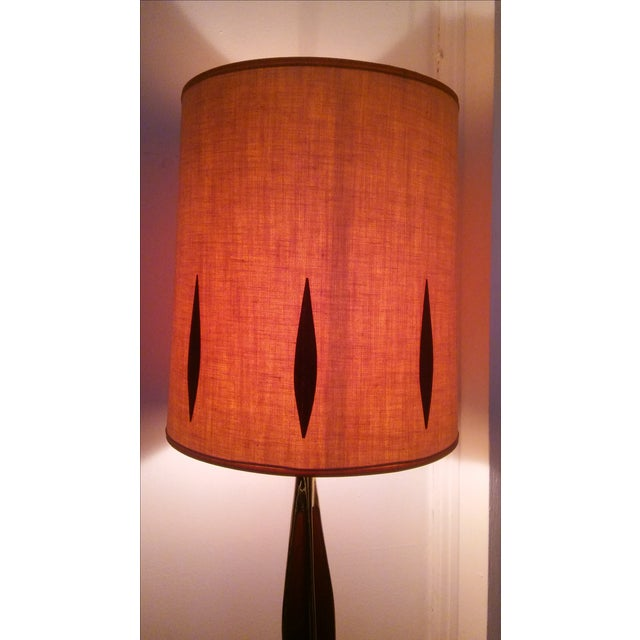 Vintage Mid-Century Brass Table Lamp - Image 3 of 6
