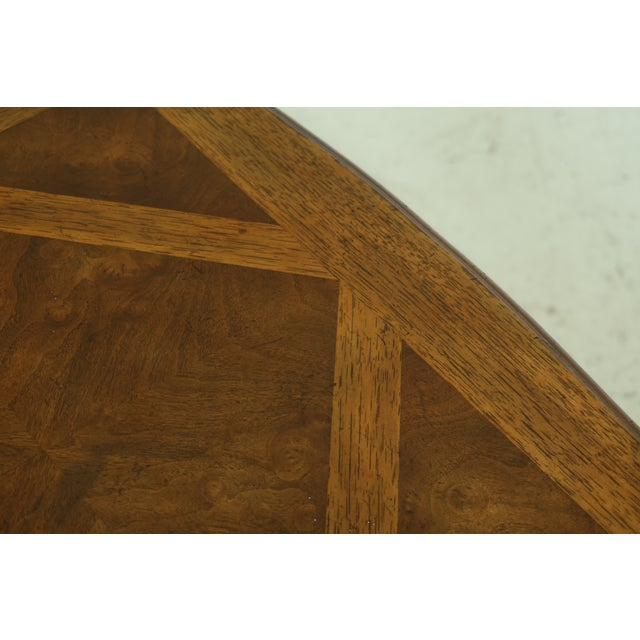 Wood Drexel Heritage Country French Style Walnut & Oak End Table For Sale - Image 7 of 10