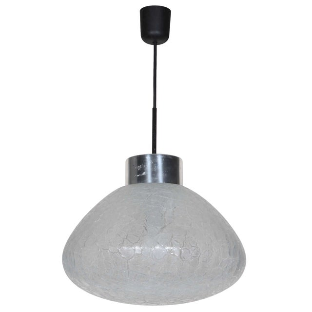 1960s Textured Glass Pendant Fixture, Germany For Sale - Image 5 of 5