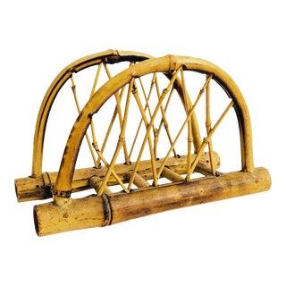Vintage Japanese Bent Bamboo Napkin Holder For Sale