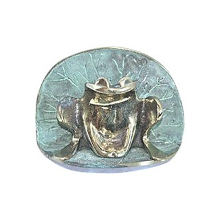 Frog & Lily Pad Colby Smith Door Knocker For Sale