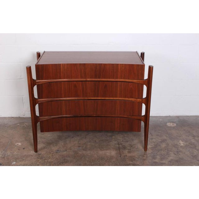 Walnut Curved Front Dresser Designed by William Hinn - Image 2 of 10