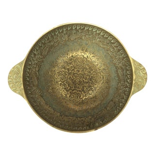 Indian Brass Etched Bowl