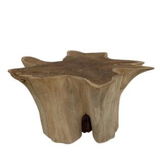 Organic Modern Teak Root Coffee Table For Sale