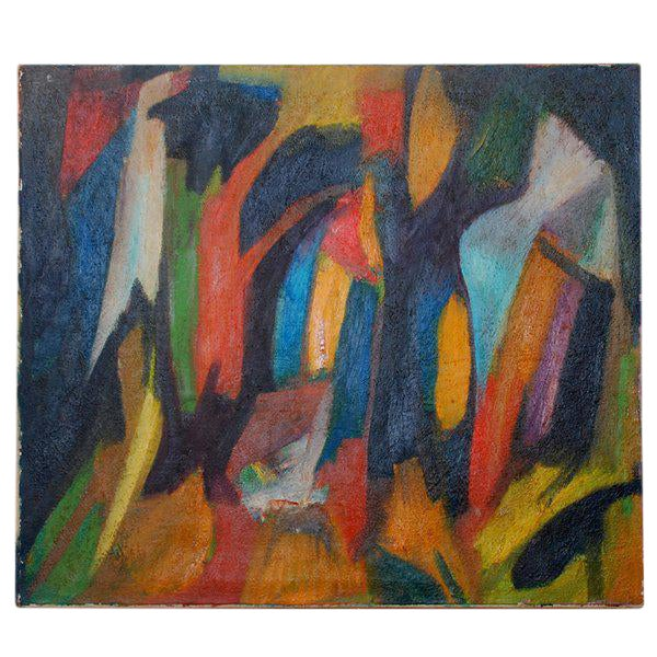 Latin American Mario Beauregard Abstract Oil in Canvas - Image 1 of 2