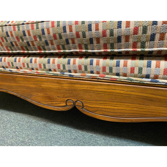 Wood Thomasville French Country Reproduction Sofa /Daybed For Sale - Image 7 of 12