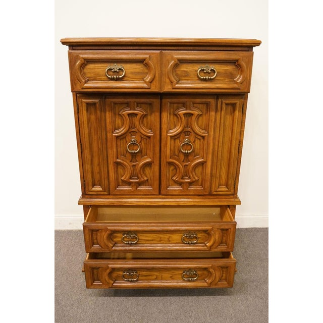 "20th Century Traditional Thomasville Furniture Levitz Collection 41"" Door Chest/Armoire For Sale In Kansas City - Image 6 of 13"