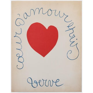 Henri Matisse, First Edition Poster of Verve Art Magazine Cover N23 For Sale