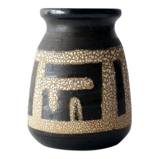 1960s Lapid Israel Tapered Fat Lava Vase For Sale