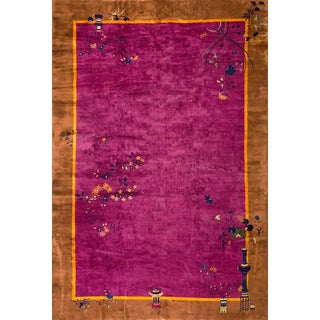 "Antique Art Deco Chinese Rug- 11'0"" X 16'6"" For Sale"