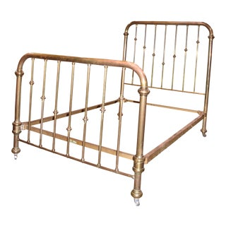 Simmons Steampunk Full Size Antique Victorian Brass Bed