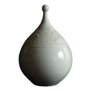 Vintage Bjorn Wiinblad for Rosenthal Magic Flute White Covered Candy Jar For Sale