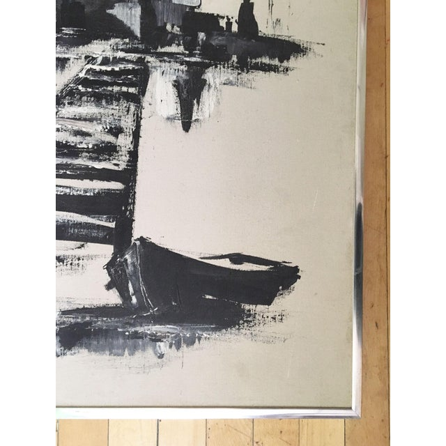 1970's Vintage Monochromatic Seaside Painting by J. Ochocki For Sale In New York - Image 6 of 8