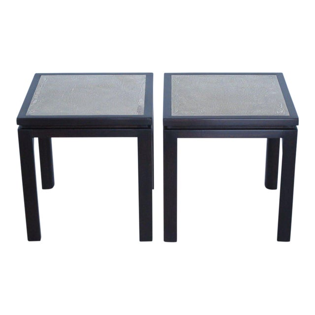 Harvey Probber Enamel Square Side Tables - a Pair For Sale - Image 11 of 11