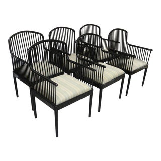 Black Lacquered Italian Stendig Chairs - Set of 6