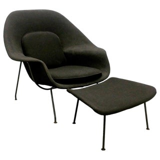 Eero Saarinen Womb Chair and Ottoman, Knoll, Usa, 1950s-1960s For Sale