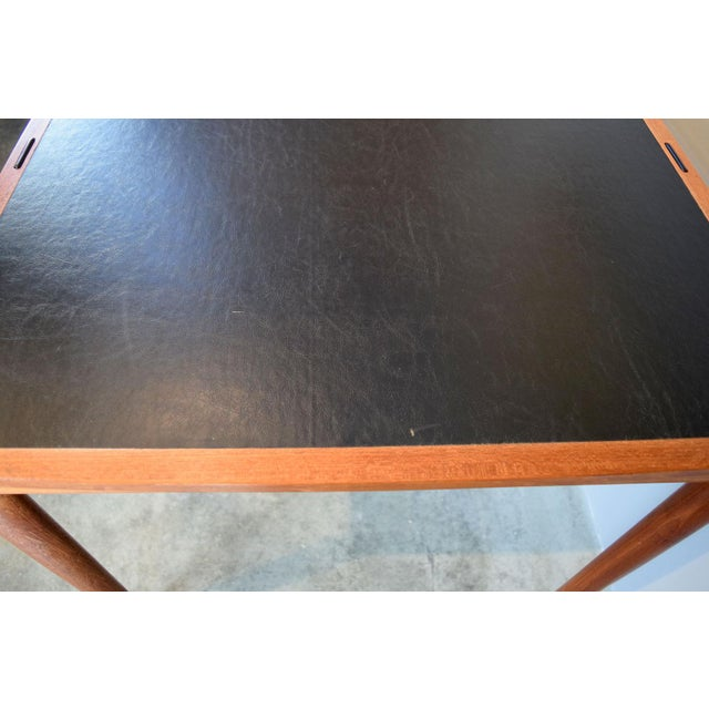 Carlo Jensen Expanding Small Danish Teak Dining Table or Game Table For Sale - Image 10 of 13