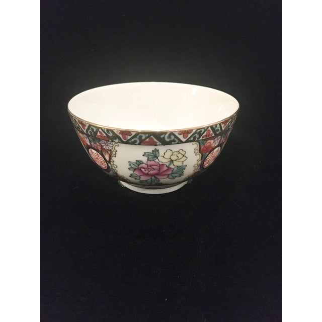 Hand Painted Chinoiserie Bowl For Sale - Image 9 of 9