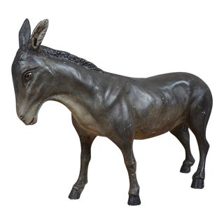 French Painted Plaster Model of a Donkey For Sale
