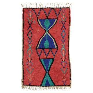 Vintage Berber Moroccan Rug - 3′9″ × 6′ For Sale