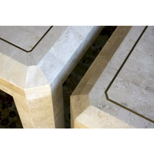 Maitland Smith Tessellated Marble Tables, a Pair For Sale - Image 9 of 13