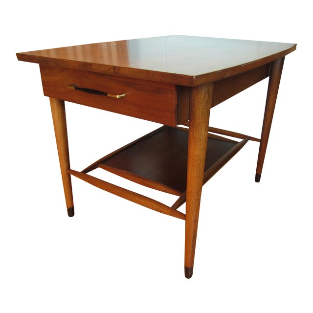 Mid-Century Modern Wood End Table - Image 1 of 8
