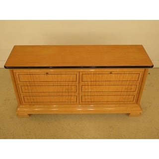 1990s Biedermeier Style Satinwood 6-Drawer Double Dresser Preview