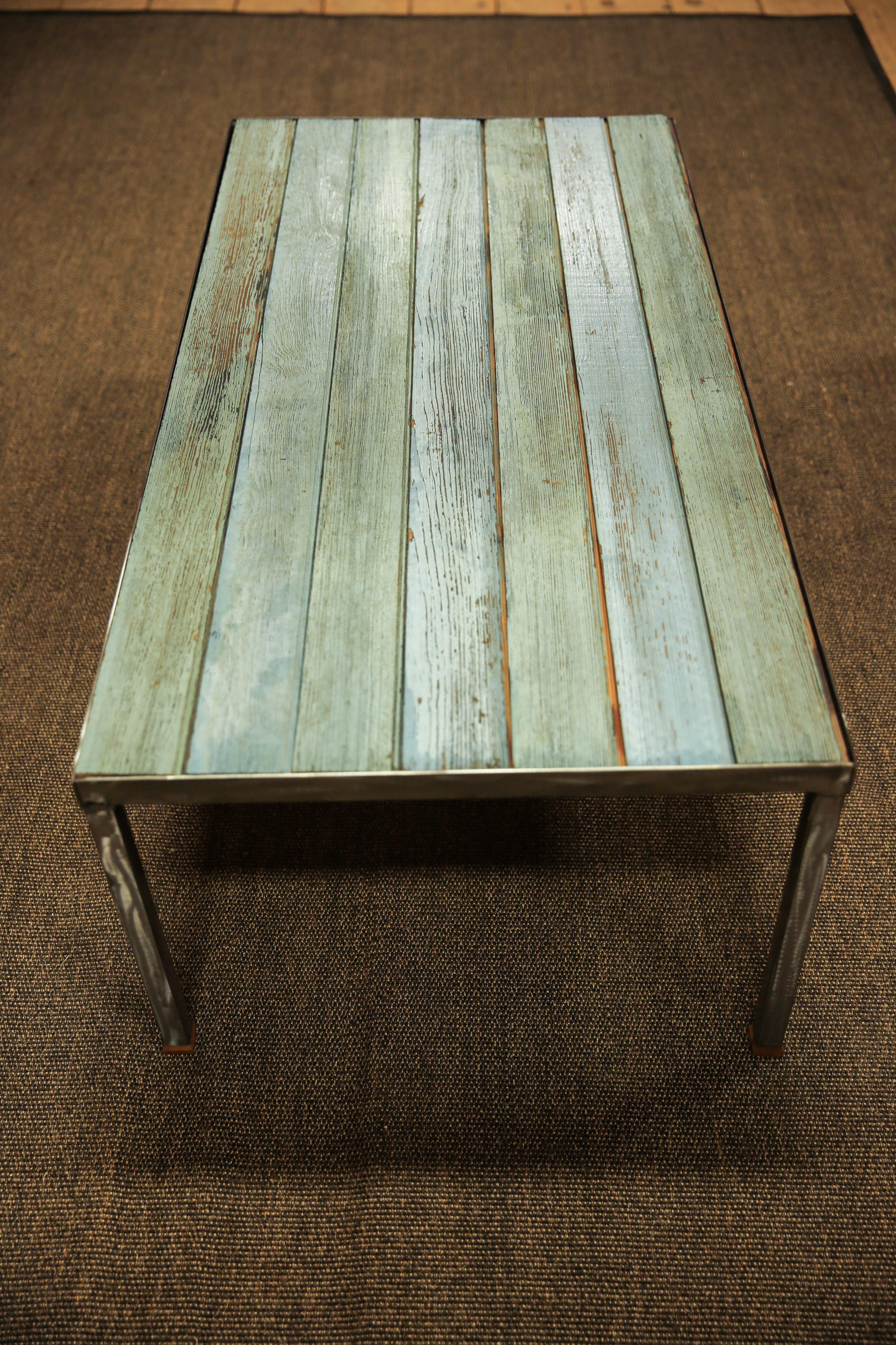 Reclaimed Wood Coffee Table For Sale In Boston   Image 6 Of 12