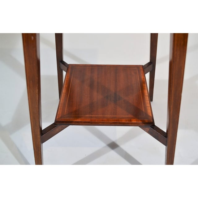 English Traditional Antique English Mahogany Occasional Table Circa 1890 For Sale - Image 3 of 4