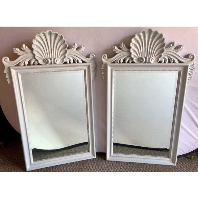 Hollywood Regency Labarge Wall or Console Mirrors, Italian - a Pair For Sale - Image 10 of 13