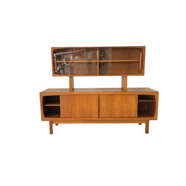Ib Kofod-Larsen Danish Modern Teak Sideboard and Hutch For Sale - Image 4 of 10