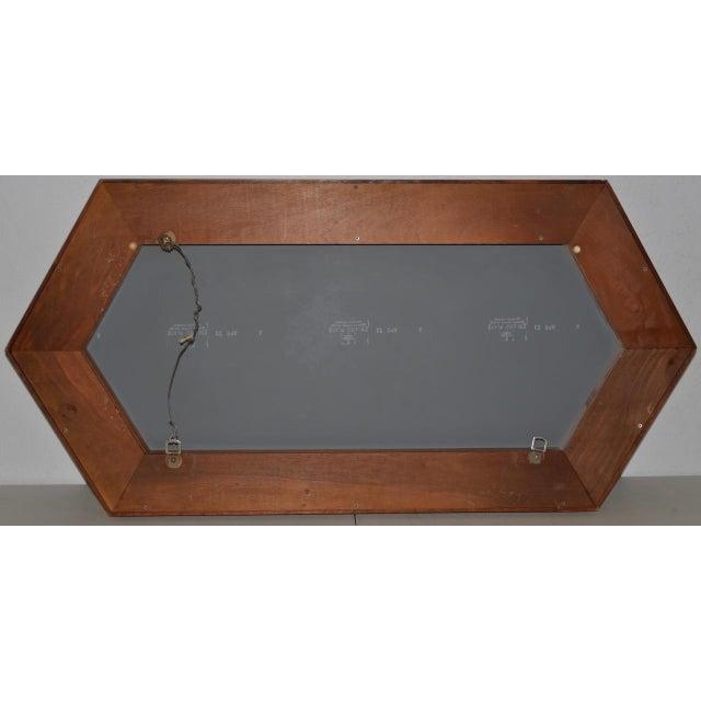 Walnut Framed Mirror by Arthur Umanoff for Howard Miller C.1965 For Sale In San Francisco - Image 6 of 8