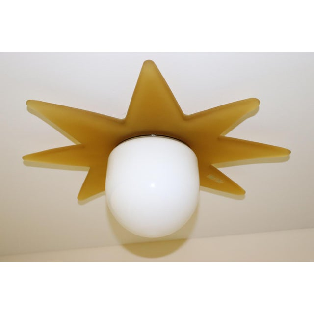Metal 1980 Mid-Century Modern Murano Glass Ceiling Lamp For Sale - Image 7 of 7