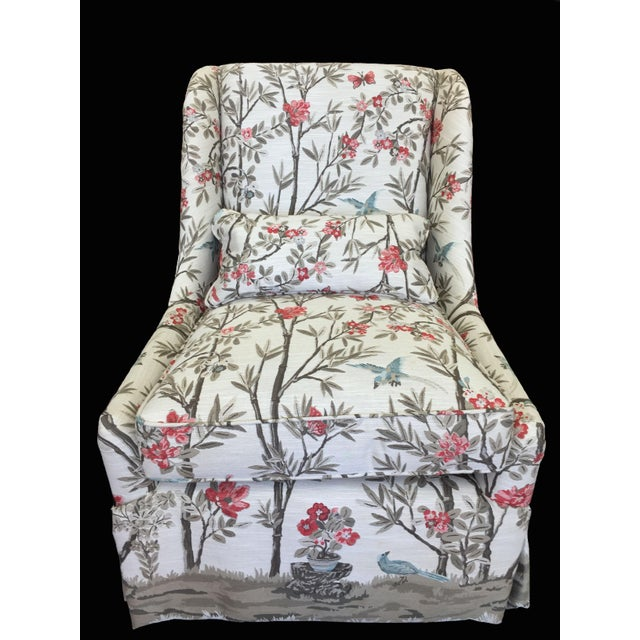 2010s Modern Pearson Upholstered Chair For Sale - Image 5 of 5