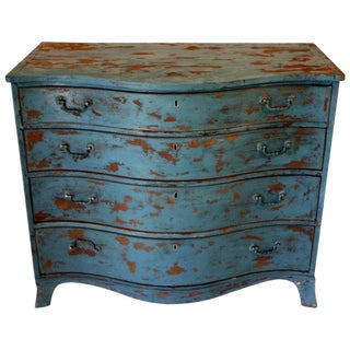 1900s Rustic Copper Highlighted Commode For Sale