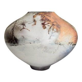 Vintage Handmade Painted and Glazed Porcelain Vessel For Sale