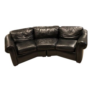 Early 21st Century Transitional Hancock and Moore Leather Angle Sofa For Sale