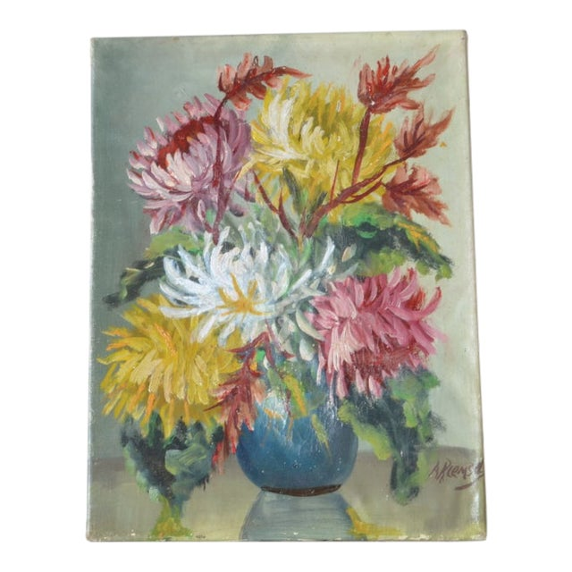Floral Still Life by Andre H. Riemsel For Sale