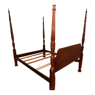 Four Poster Carolina Rice Queen Bed For Sale