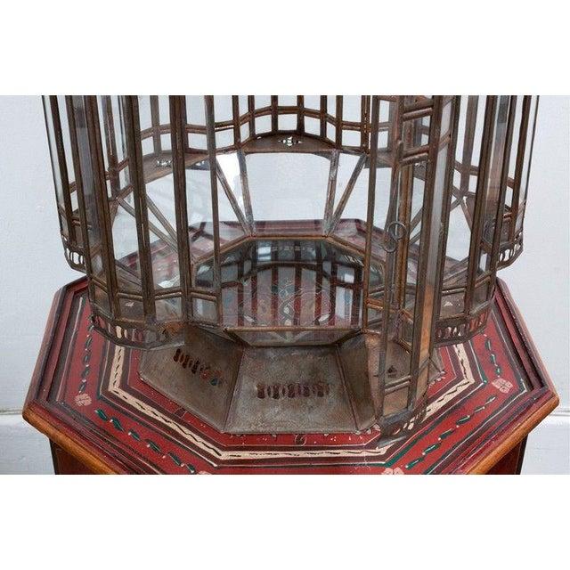 Mid 20th Century Moroccan Moorish Vintage Large Lantern For Sale - Image 5 of 6