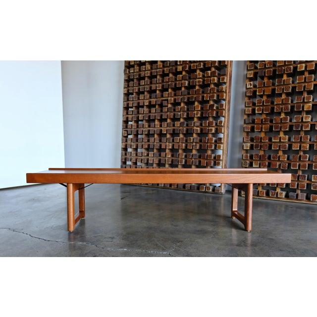 """1960s Vintage Teak """"Krobo'' Bench by Torbjørn Afdal for Bruksbo For Sale In Los Angeles - Image 6 of 11"""
