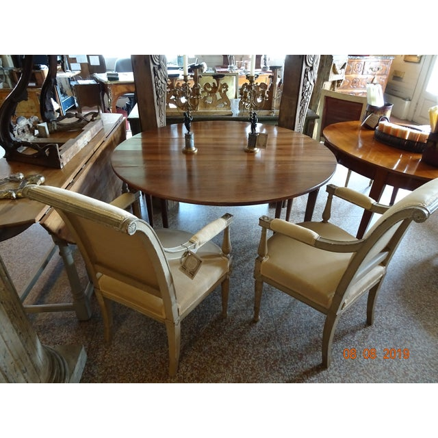 Walnut Epoch Directoire Dining Table For Sale - Image 11 of 12